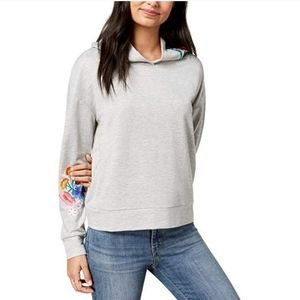 NWT Crave Fame Embroidered Gray Sweatshirt Large.